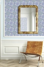 Louise Body Old Blue Tile Wallpaper - Panel