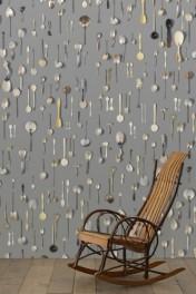 NLXL DRO-06 Obsession Small Spoons Wallpaper by Daniel Rozensztroch