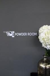 Powder Room Wall Sticker