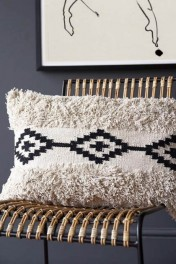 Rectangle Black & Natural Moroccan Benni Cushion