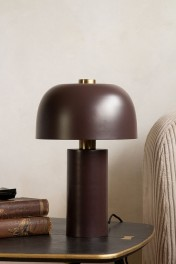 Burgundy Red Retro Cylinder Table Lamp