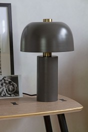 Charcoal Grey Retro Cylinder Table Lamp
