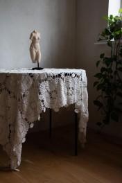 Bohemian Rose Crochet Throw/Tablecloth