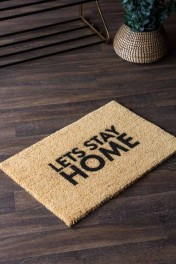 Lets Stay Home Doormat