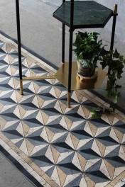 Beija Vinyl Floor Runner - Antique Geometric