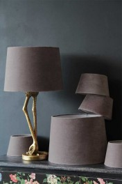 Dusky Pink Sumptuous Velvet Lamp Shade - Available in 3 Sizes