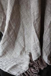 Ash Brown Linen Throw