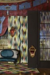 Christian Lacroix Au Thèâtre Ce Soir Collection - Mascarade Arlequin Wallpaper
