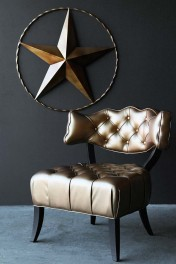 Cloud Faux Leather Chair - Metallic Gold