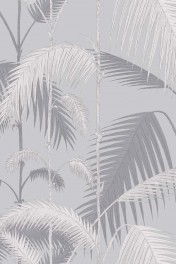 Cole & Son Contemporary Restyled - Palm Jungle Wallpaper - Lilac Grey & Grit