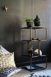 Curved Brass Shelving Unit