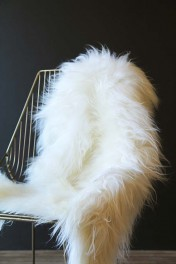 Genuine Icelandic Long Wool Sheepskin - Natural White
