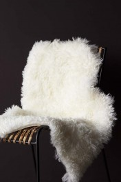 Genuine Sheepskin Rug - Curly Bone White