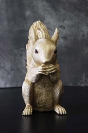 Gold Squirrel Coin Bank