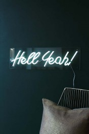 Hell Yeah! LED Neon Light - White