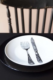 Knife & Fork Cutlery Fine China Plate