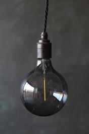 E27 LED Atelier Smoke Glass Bulb - Large Globe