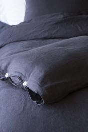 Lisbon Soft Linen Pair Of Pillowcases - Slate Grey