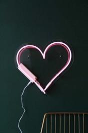 Love Heart Neon Light - Pink