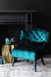 Cloud Velvet Chair - Ocean Deep Green