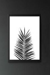 Palm Leaf Art Print By Nika