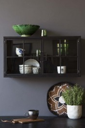 Rectangle Metal Glass Pane Wall Cabinet