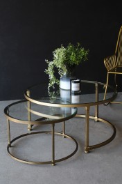 Set Of 2 Circular Circus Nesting Tables