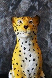 Spotted Leopard Coin Bank