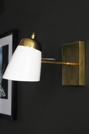 The Mortimore Wall Light - Brass & Gloss White