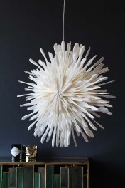 White Starburst Leodora Paper Pendant