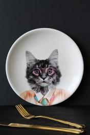 Wild Ceramic Plate - Courtney Cat