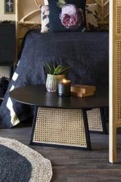 Sungkai Woven Cane Round Coffee Table
