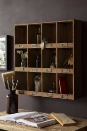 Traditional Pigeon Hole Wooden Storage Wall Unit