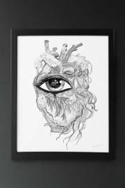 Unframed Limited Edition Sea Heart Art Print
