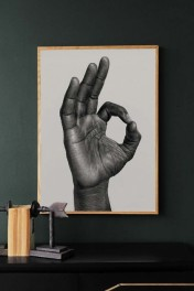 Unframed OK Art Print by B Bredenbekk