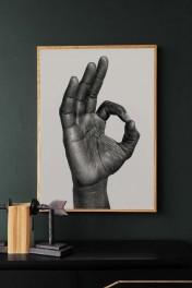 Unframed OK Art Print by B Bredenbekk