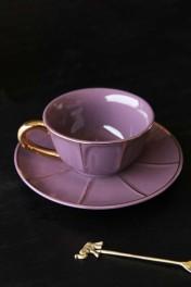 Vintage Style Tea Cup & Saucer - Purple