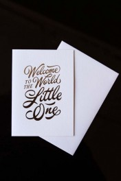 Welcome to the World Little One Greeting Card - Pink