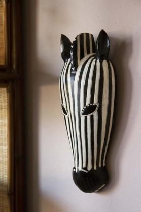 African Style Wooden Zebra Head Wall Art