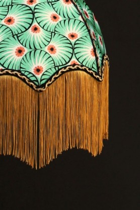 Anna Hayman Designs DecoFabulous Green & Orange Palm Print Lamp Shade
