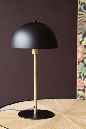 Lifestyle image of the Art Deco Canopy Table Lamp - Matt Black