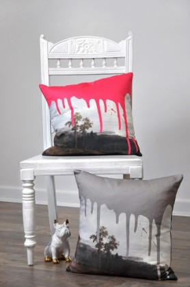 Artists Cushion - Pink Or Grey lifestyle image