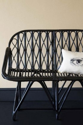 Beautiful Black Bamboo Bench Chair