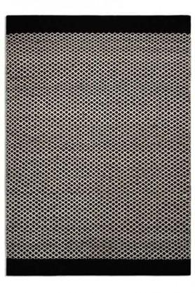 Belle 100% Wool Rug - BlackNatural Criss Cross 03 - 2 Sizes Available