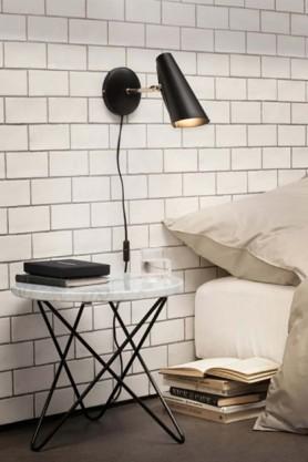Birdy Wall Light - Black & Brass - Short