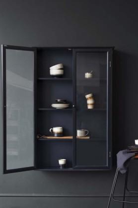 Black Pine Display Cabinet