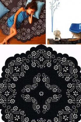 Large Floral Floor Sticker