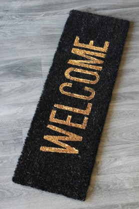 Black & Gold Welcome Doormat