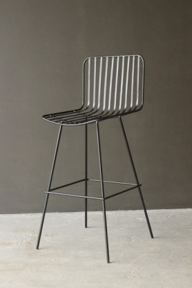 Nero Black Metal Bar Stool