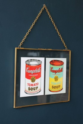 Brass Picture Frame with Chain - Landscape 30x24cm